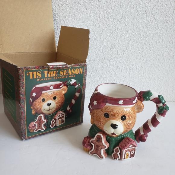 Tis The Season Large 3D Holiday Ceramic Mug